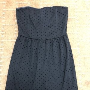 Gap Black Polka Dot Strapless Dress